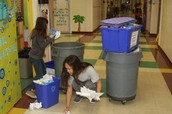 Friday Collections of Recycling from Each Classroom