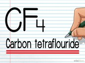 Carbon stays the same because its 1 and Fluorine has a subscript of 4 so it becomes tetra.