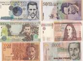 Varieties of Colombian money