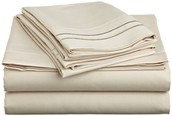 Cream-colored Bed Sheets (Example)