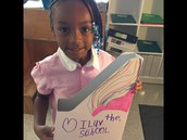Kamiyah loves school (She and I share that sentiment)