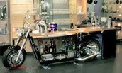 Motorcycle Themed Man Cave