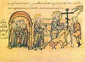 "St. Andrew's prophecy of Kyiv as a ""great Christian city"" in the 13th century Radzivill Chronicle"