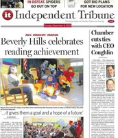 Front page of the Independent Tribune. Go BHES.