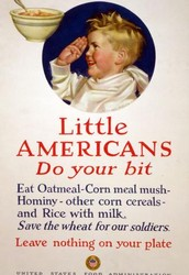 LITTLE AMERICANS, DO YOUR BIT. LEAVE NOTHING ON YOUR PLATE