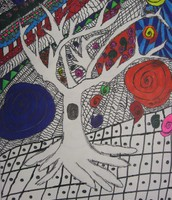 Hand or Tree Contour Design