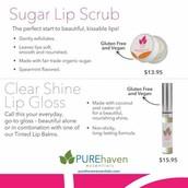 Sugar Lip Scrub and Clear Lip Gloss Shine