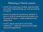 Goal I Work: Three Tiered Lessons Shared 03/01/16 in PLC