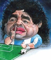 Maradonna famous soccer player caught with cocaine