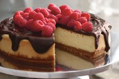 Dark Chocolate Ganash Cheesecake
