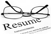Don't forget your resume