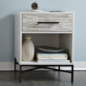 Wood Tiled Night Stand@ $349