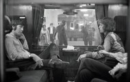 Jagger, McCartney on a train together