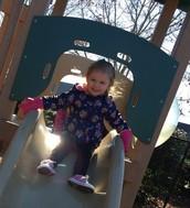 Britten on playground