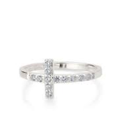 Cross Ring - Silver: Size 7