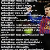 Messi goals against Cr7