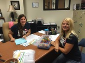 Mrs. Lutonsky & Mrs. Cole prepare for students