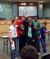 Whiz Quiz Team Earns District Championship!
