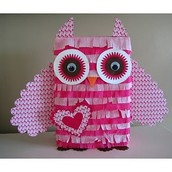 Pink, Sparkly, owl