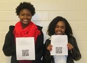 FBLA students created QR codes depicting career goals!