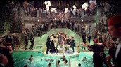 Gatsby throwing a grand party