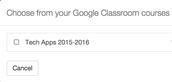 Select Google Classroom Course