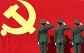 חיילים מצדיעים לסמל