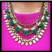 Eye Candy Necklace in Emerald $49