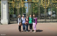 In front of Buckingham Palace