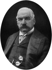 J.P. Morgan gained his fortune from banking.