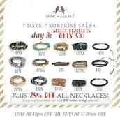 Wrap Bracelets $30 for for 24 hours!