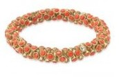 Vintage Twist Coral Bracelet