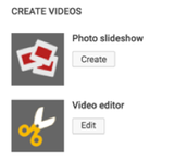 4.  Create your story using the YouTube slideshow feature