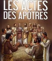 Deuxième activité : Écoute ou lecture du livre des Actes des apôtres + résumé d'un chapitre/Tableau synthèse du livre des Actes des apôtres