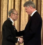 Fred T. Korematsu and President Bill Clinton