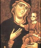Chiesa di Monopoli, Icona della Beata Vergine Maria della Madia, XII-XIII secolo, tempera su tavola.