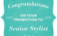 Congrats on your Promotion to Senior Stylist!