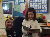 Sophie was our Mystery Reader!