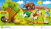 The children visit a farmer