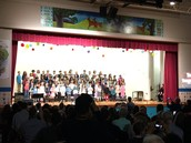First Graders Wow at their Art and Music Show