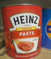A can of tomato paste weighs 6 pounds!