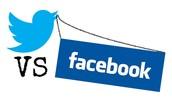 Twitter vs. Facebook