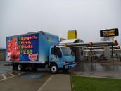 LED billboard truck