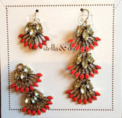Coral Cay Earrings - Can be worn with one length or 3
