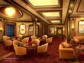 First class lounge.