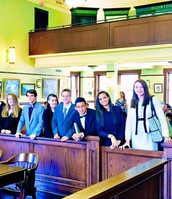 Challenge B students (8th grade) participating in mock trial in West Palm Beach