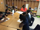 Ms. Metcalf leads small group instruction!