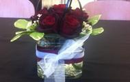 Rose & Pittosporum Centerpiece