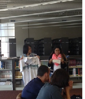 Selena Vang and Jessica Orduna sharing their story based on an article of clothing