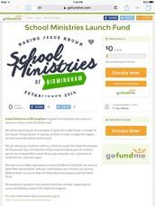 School Ministries Launch Fund